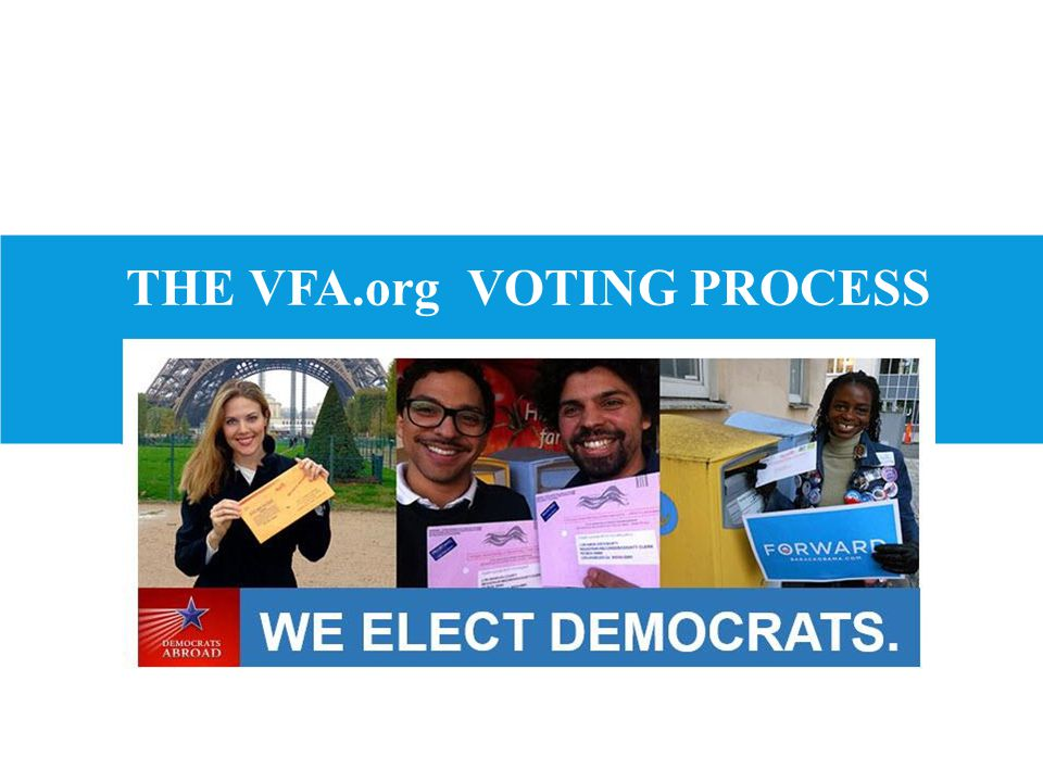 THE VFA.org VOTING PROCESS