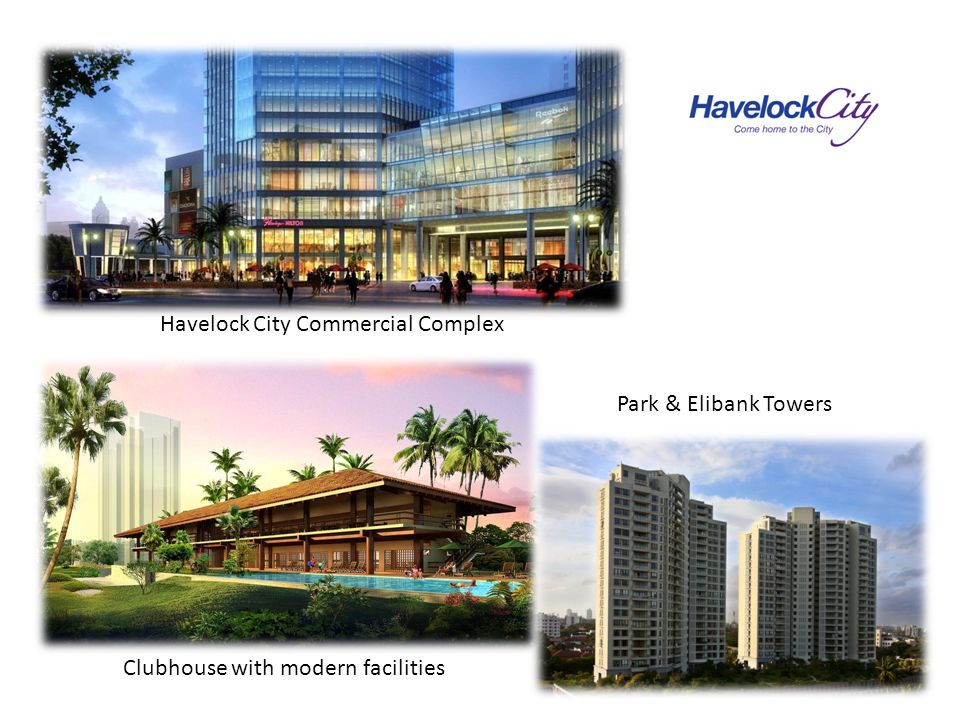 Havelock City Commercial Complex Clubhouse with modern facilities Park & Elibank Towers