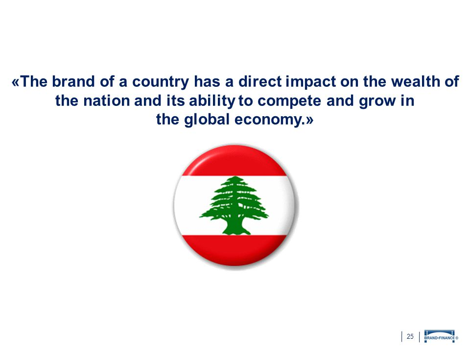 25 «The brand of a country has a direct impact on the wealth of the nation and its ability to compete and grow in the global economy.»