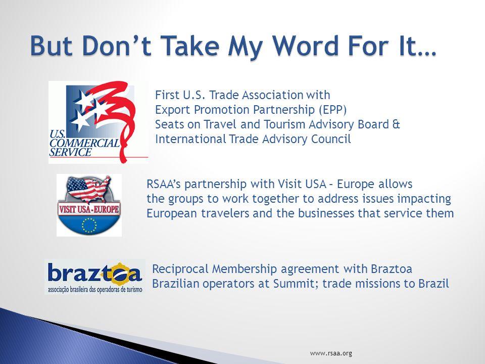 www.rsaa.org First U.S.