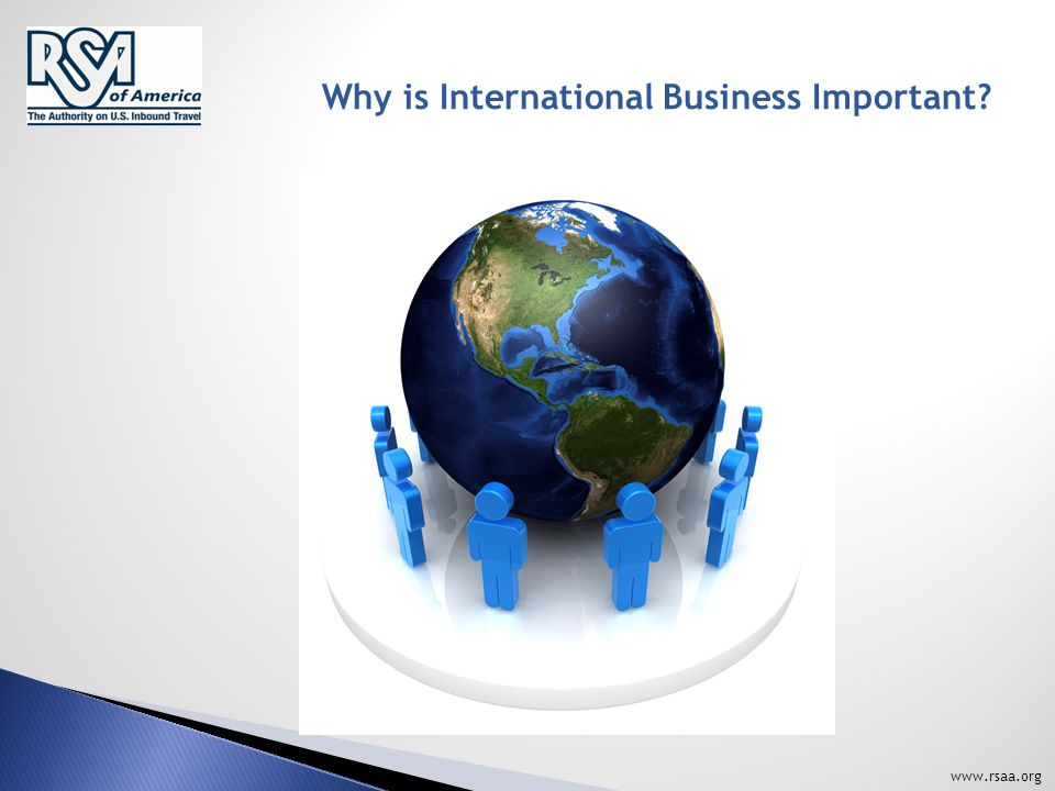 www.rsaa.org Why is International Business Important