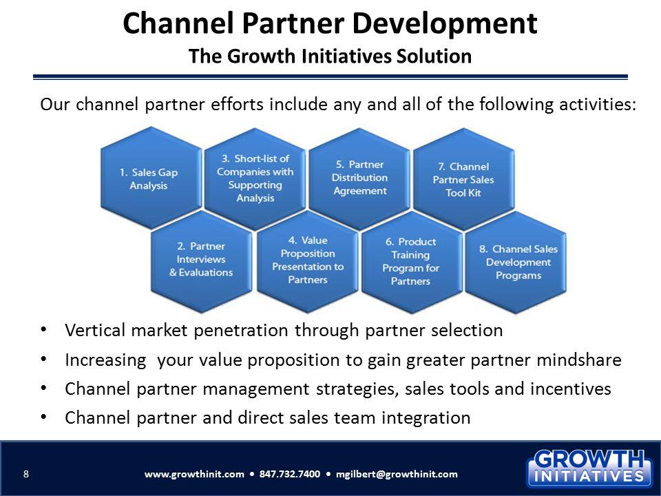 Vertical market penetration through partner selection Increasing your value proposition to gain greater partner mindshare Channel partner management s