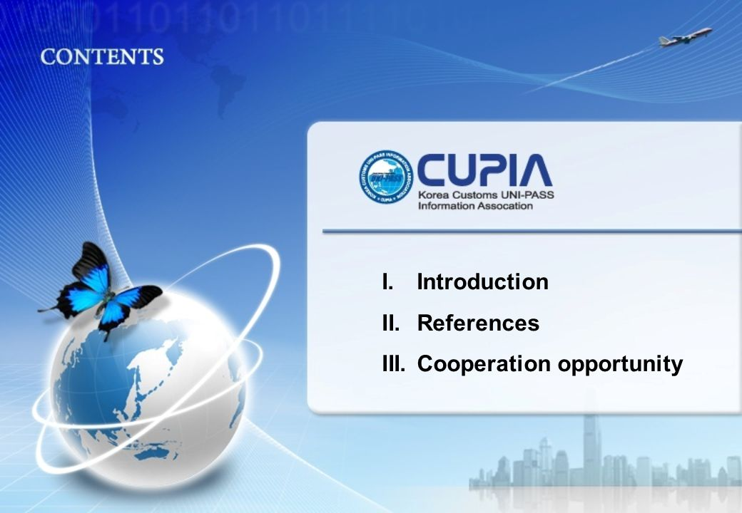 I.Introduction II.References III.Cooperation opportunity