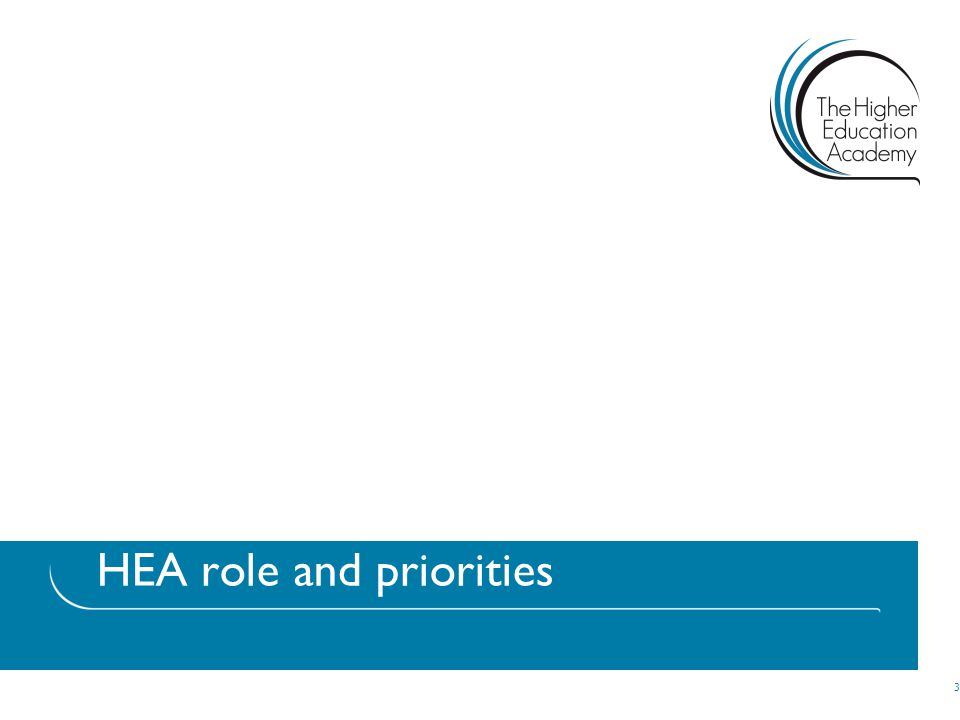 HEA role and priorities 3