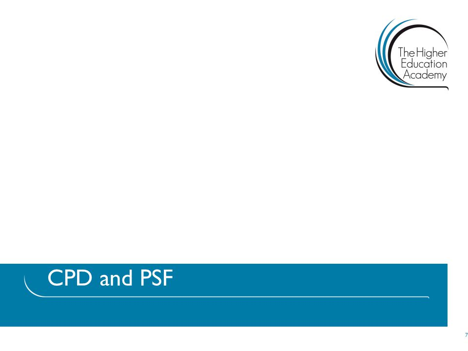 CPD and PSF 7