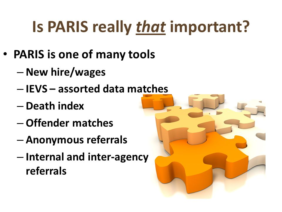 Is PARIS really that important.