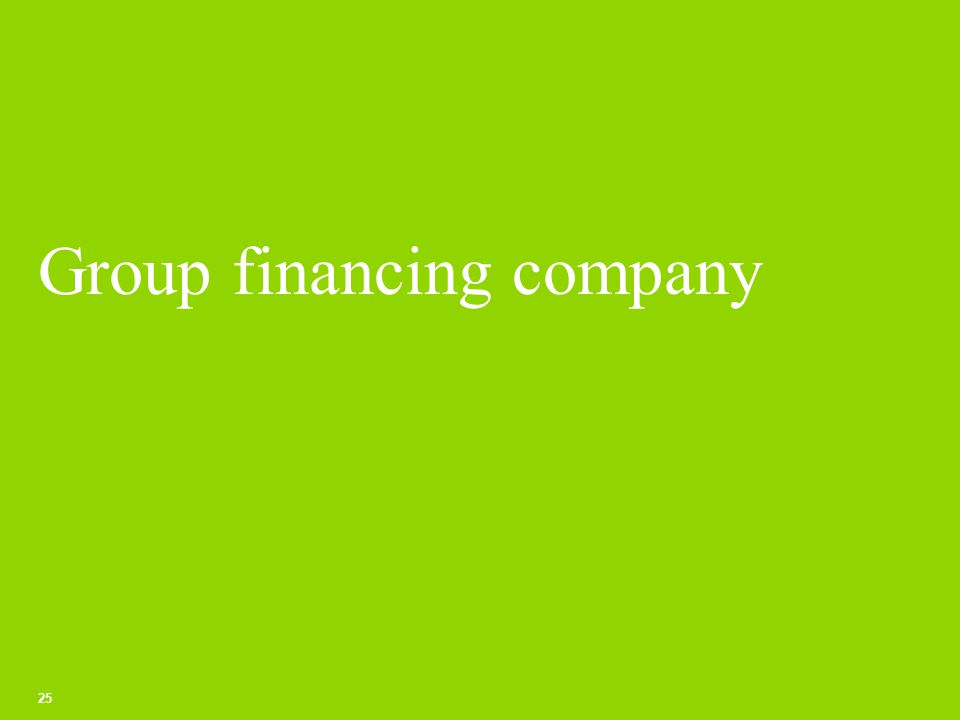 Group financing company 25