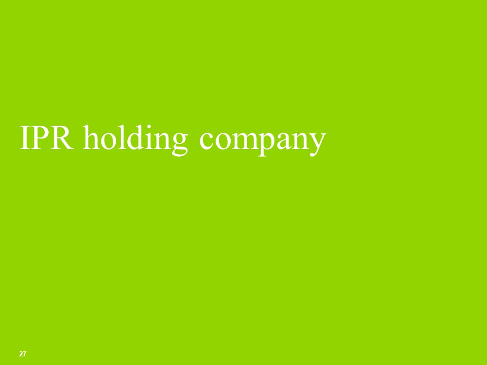 IPR holding company 27