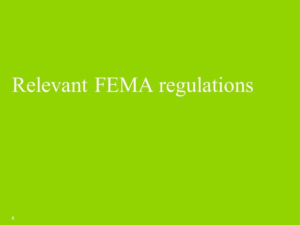 Relevant FEMA regulations 8