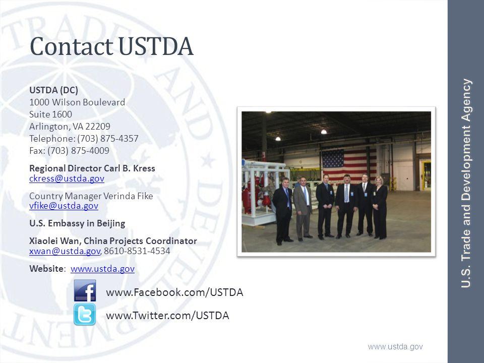 www.ustda.gov Contact USTDA USTDA (DC) 1000 Wilson Boulevard Suite 1600 Arlington, VA 22209 Telephone: (703) 875-4357 Fax: (703) 875-4009 Regional Director Carl B.