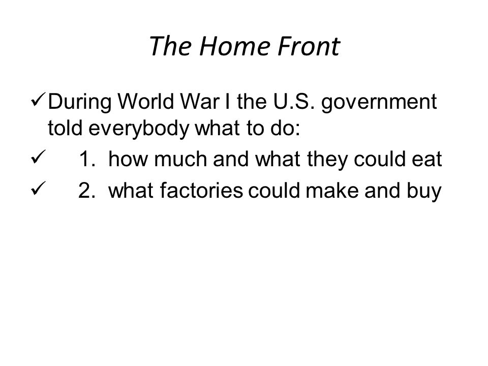 OGT Short Answer (Blue Book, 2005) Prior to the entry of the United States into World War I, two views prevailed. One favored preparedness, increasing