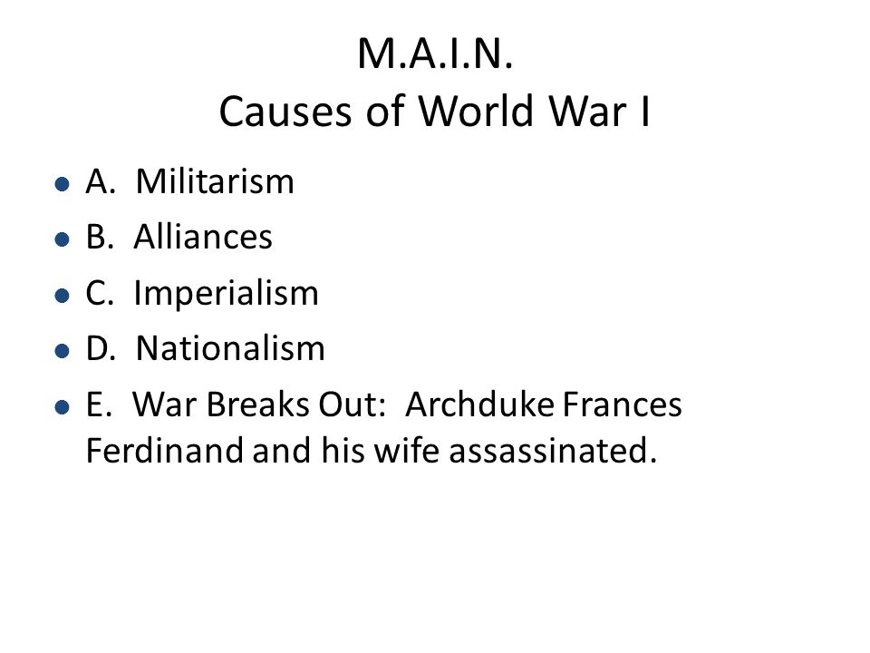 Section 2: World War I Content Elaboration: With its entry into World War I, the United States mobilized a large army and navy to help the Allies achi
