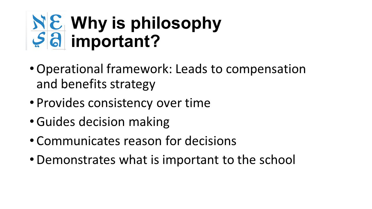 Why is philosophy important.