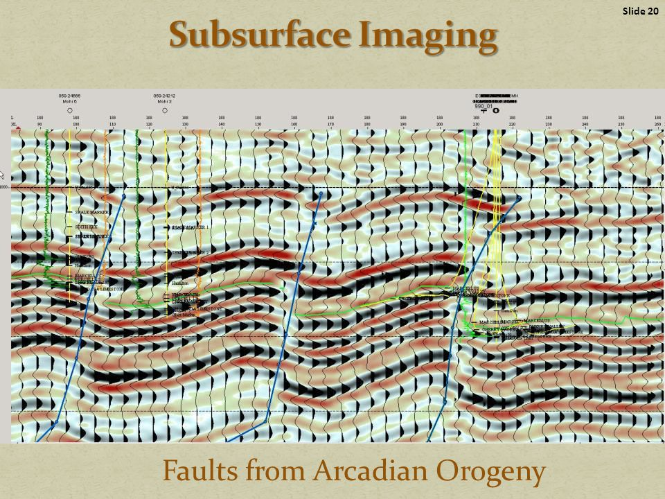 Faults from Arcadian Orogeny Slide 20