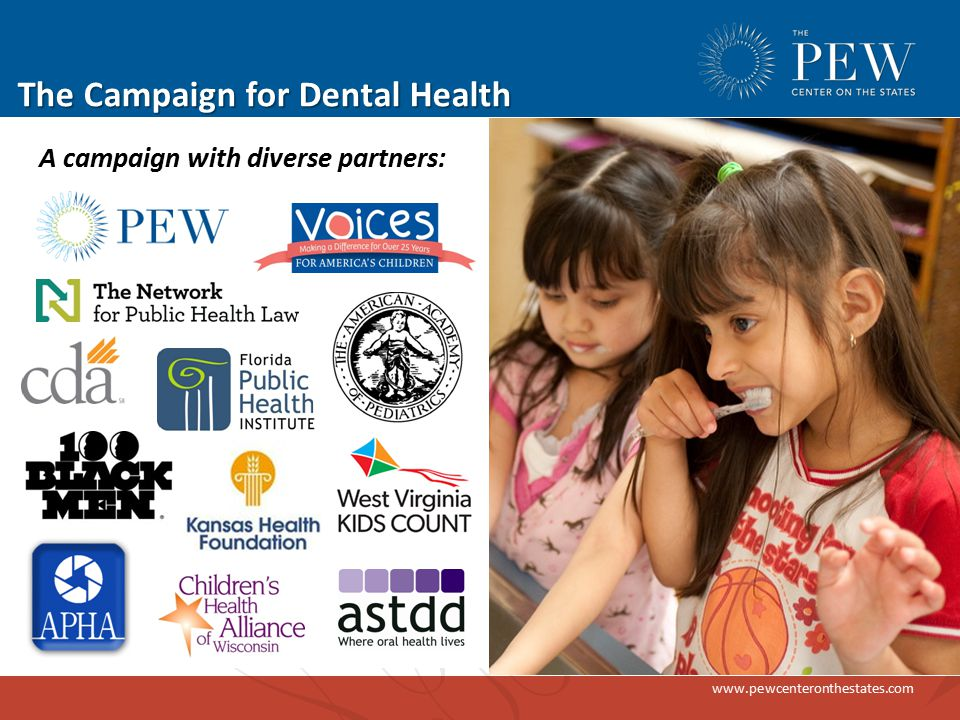 www.pewcenteronthestates.com Start reclaiming the web iLikeMyTeeth.org frames CWF in the broader context of oral health (protecting teeth)