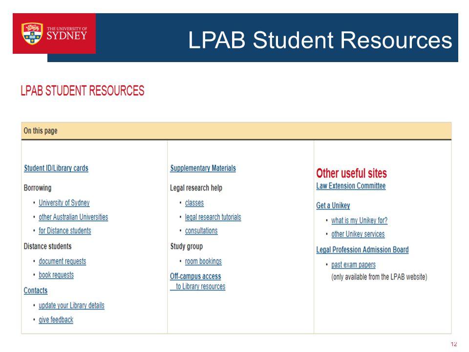 LPAB Student Resources 12