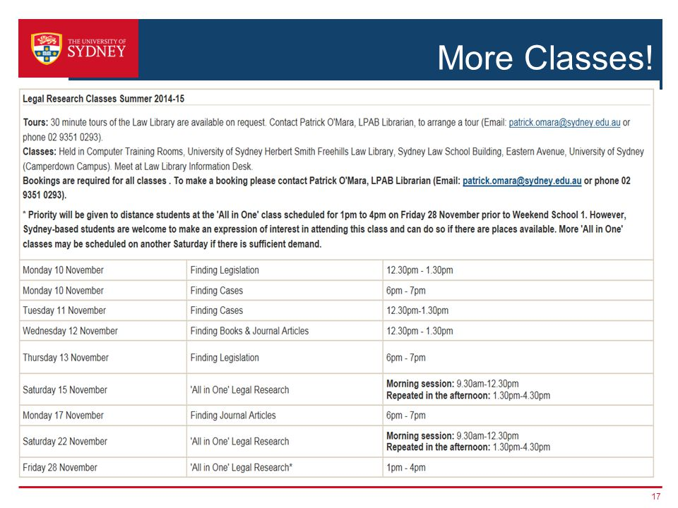 More Classes! 17