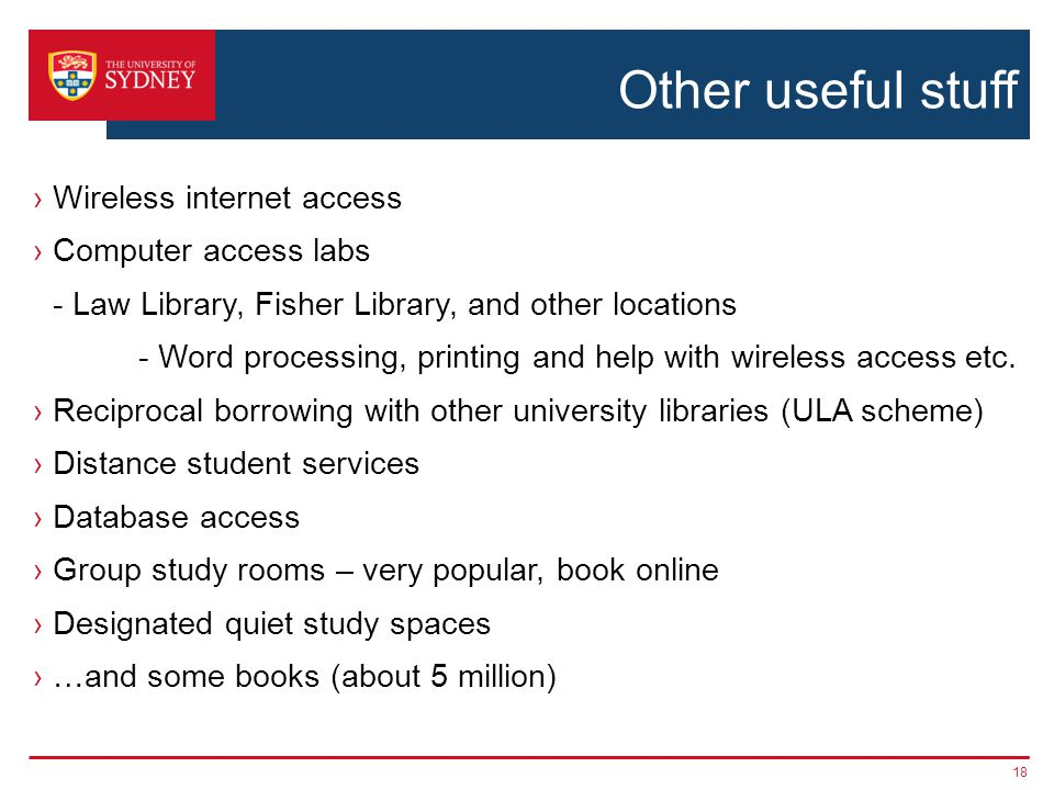 Other useful stuff ›Wireless internet access ›Computer access labs - Law Library, Fisher Library, and other locations - Word processing, printing and
