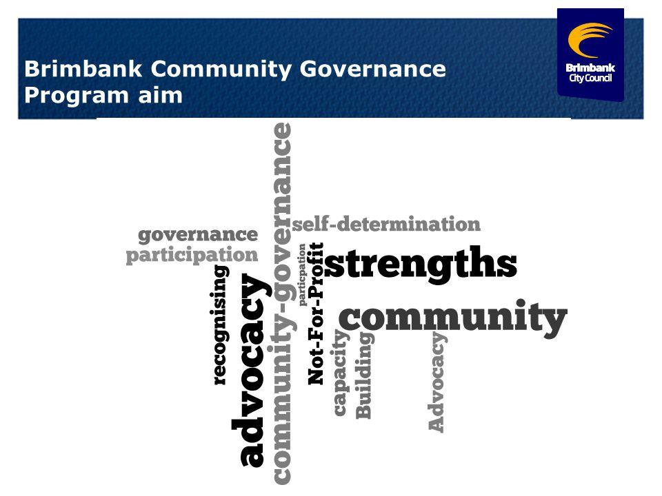 Brimbank Community Governance Program aim 11.