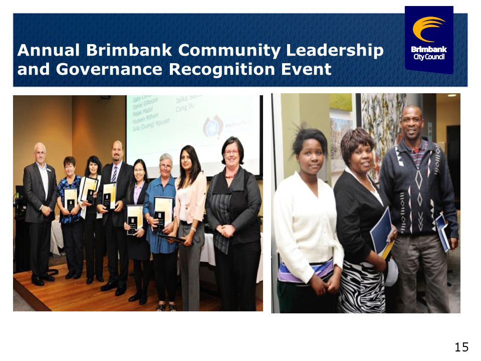 15 Annual Brimbank Community Leadership and Governance Recognition Event
