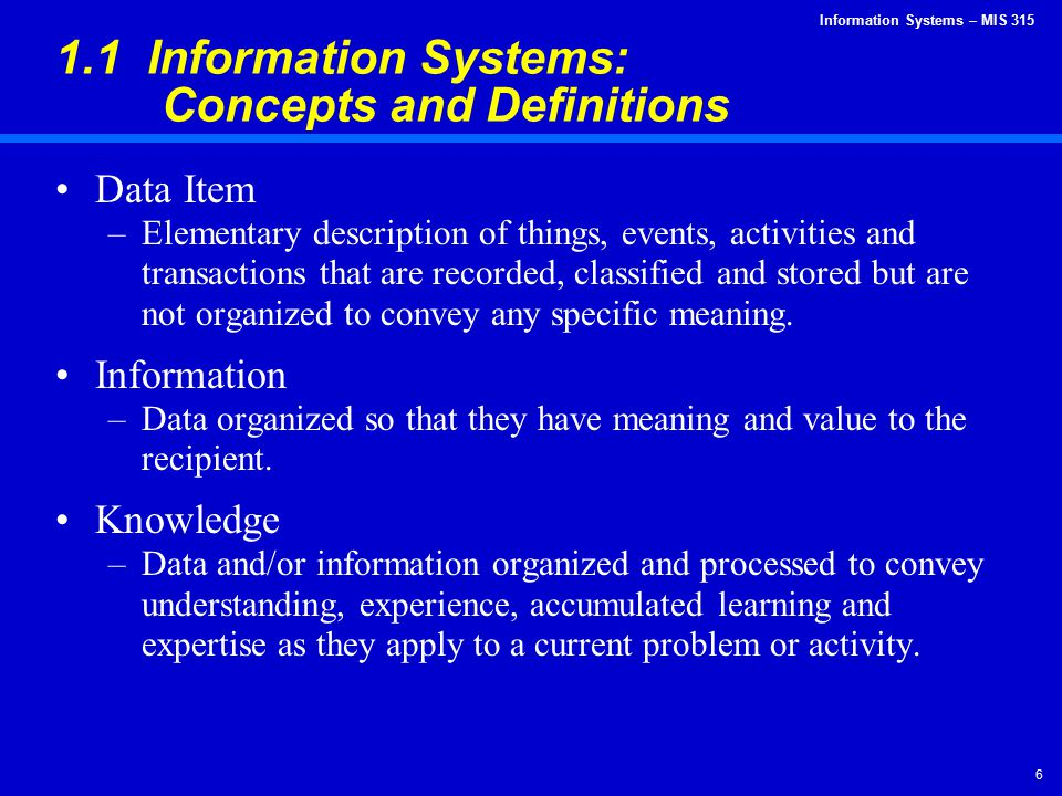 Information Systems – MIS 315 47 Technological Innovation and Obsolescence (continued) Innovation: Notebook computer with word processing software Obsolescence: Manual typewriter