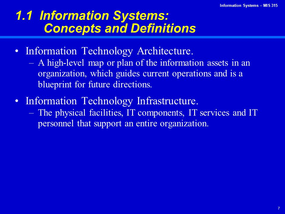 Information Systems – MIS 315 8 IT Architecture Example: Online Travel Agency