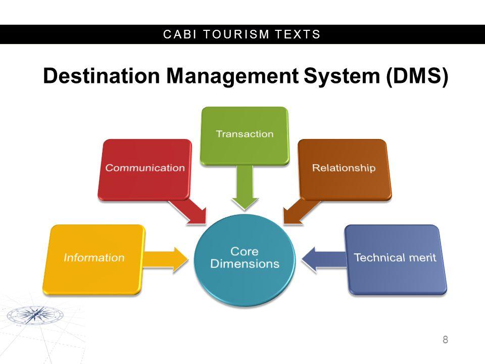 CABI TOURISM TEXTS Destination Management System (DMS) 8