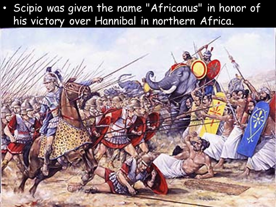 Scipio was given the name