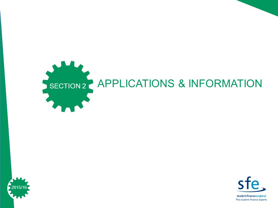 2015/16 APPLICATIONS & INFORMATION SECTION 2