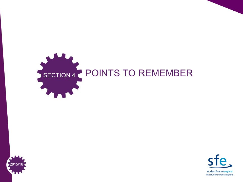 2015/16 POINTS TO REMEMBER SECTION 4