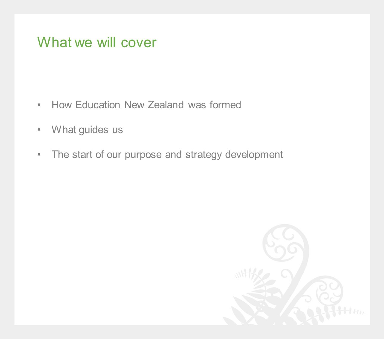 The Four Priorities of Government Responsibly manage the Government's finances Continue building a more competitive and productive economy Deliver better public services to New Zealanders within tight financial constraints Rebuild Christchurch, our second-largest city.