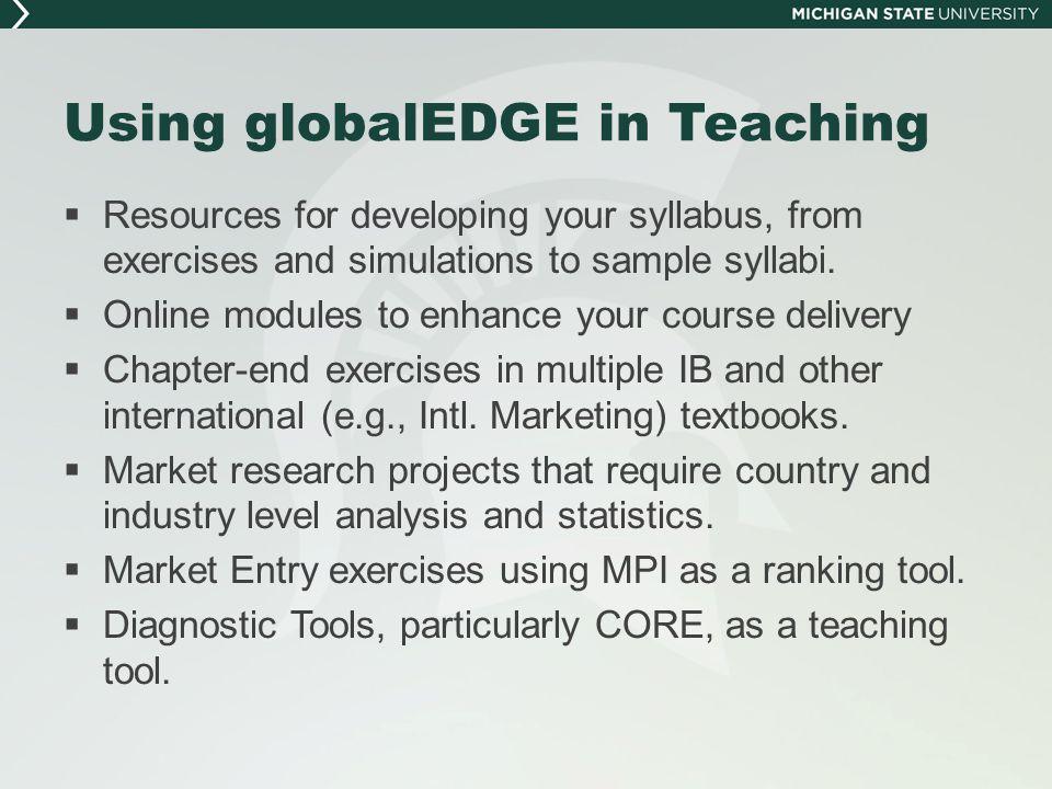 globalEDGE – Module Walkthrough - 2