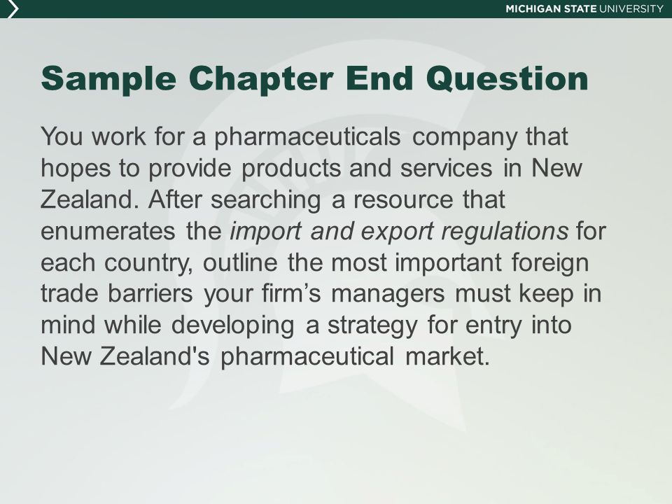 Sample Chapter End Question A.T.