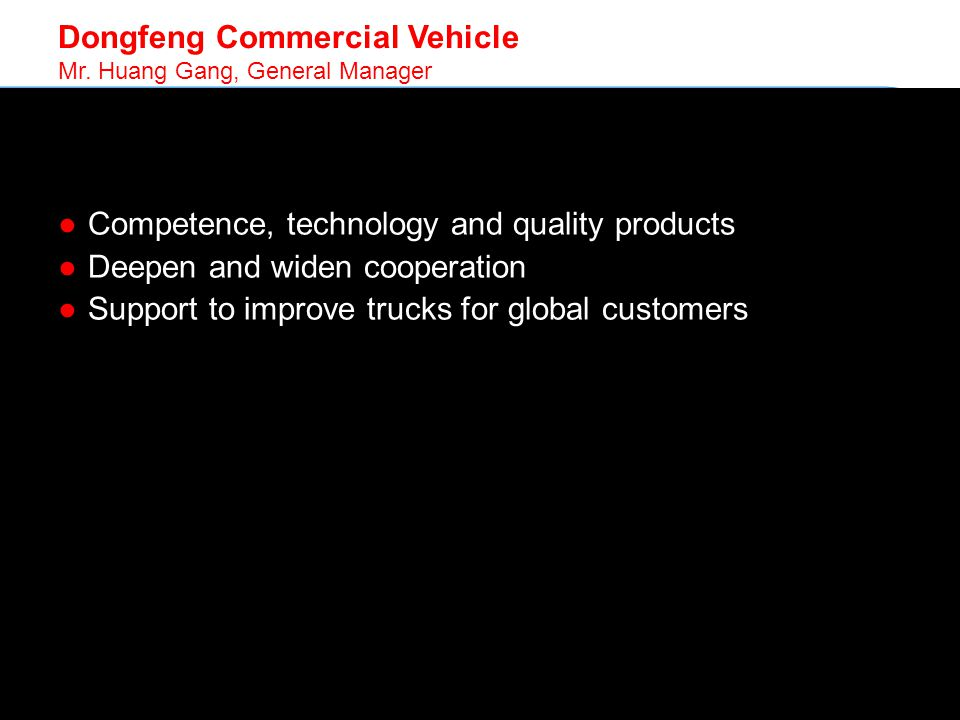 © SKF Group Dongfeng Commercial Vehicle Mr.