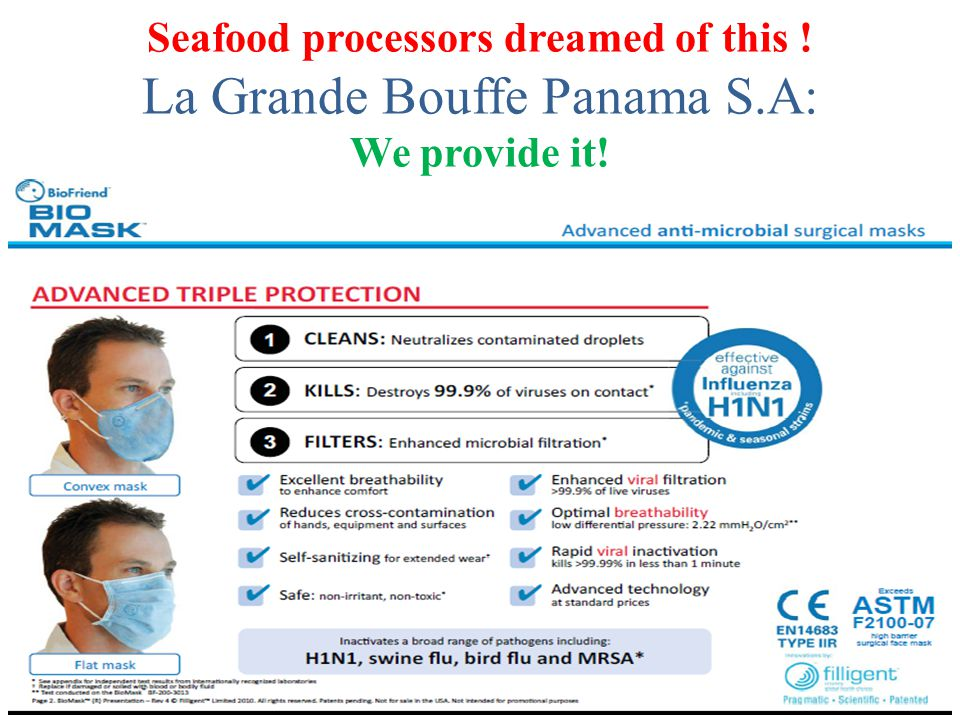 Seafood processors dreamed of this ! La Grande Bouffe Panama S.A: We provide it!