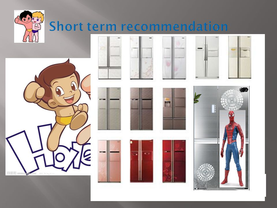 1.The various color & design refrigerator 2.Conduct eco-campaign 3.