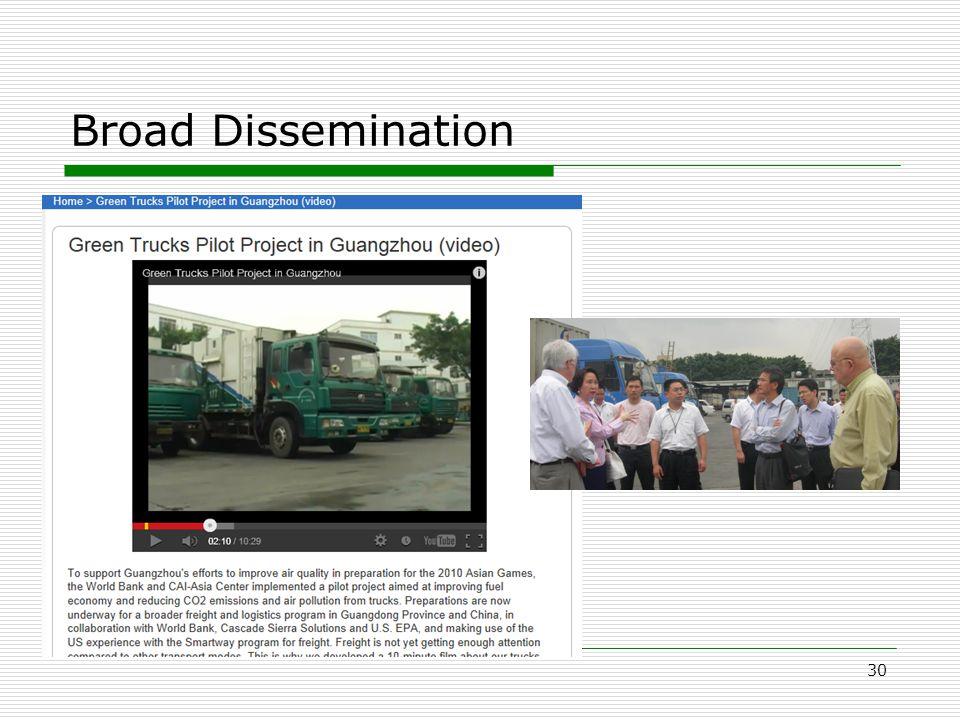 Broad Dissemination 30