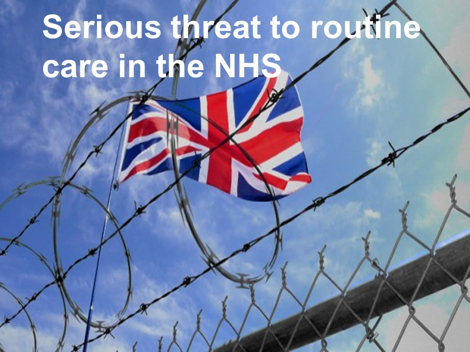 11 Serious threat to routine care in the NHS