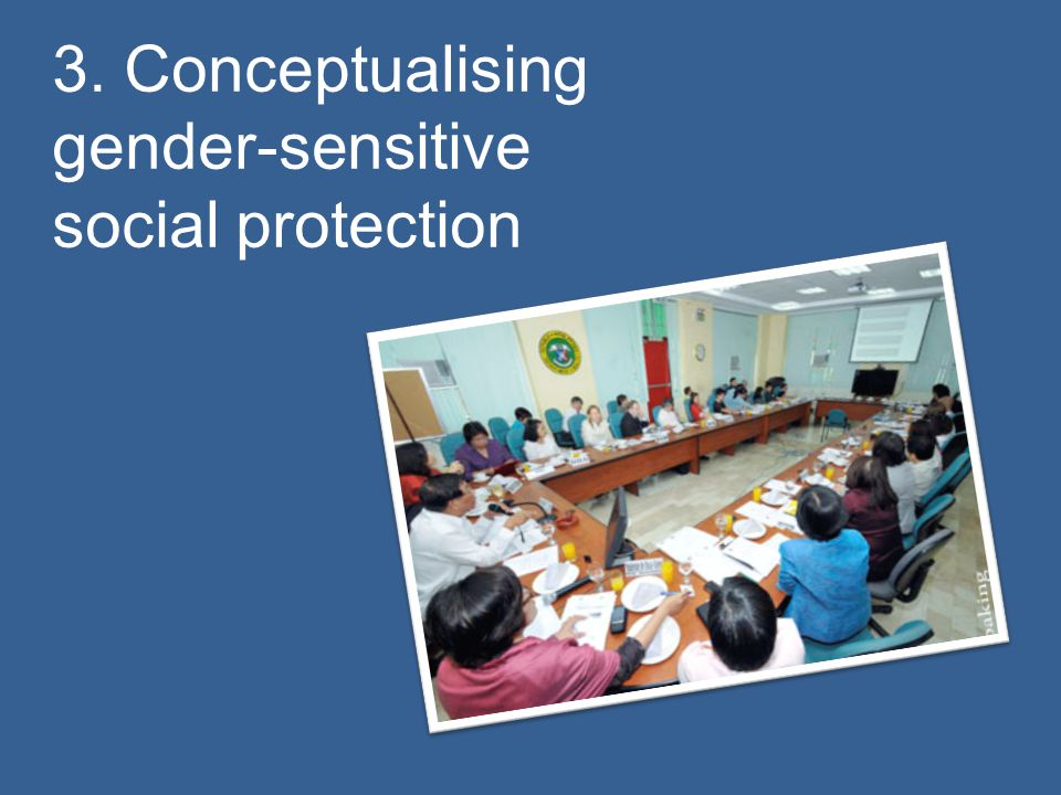 3. Conceptualising gender-sensitive social protection