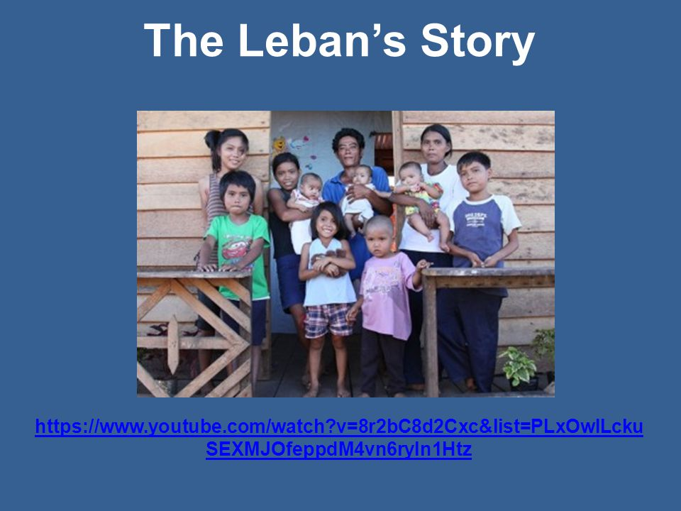 https://www.youtube.com/watch v=8r2bC8d2Cxc&list=PLxOwILcku SEXMJOfeppdM4vn6ryln1Htz The Leban's Story