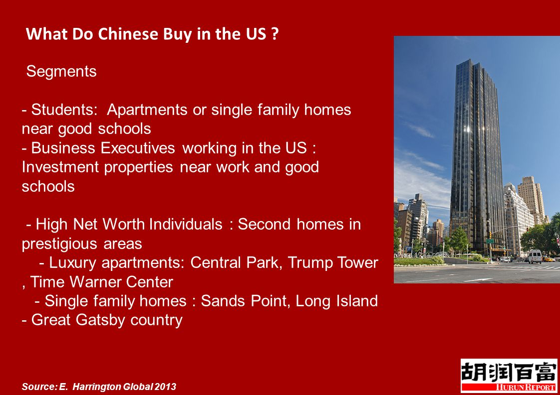 What Do Chinese Buy in the US . Source: E.