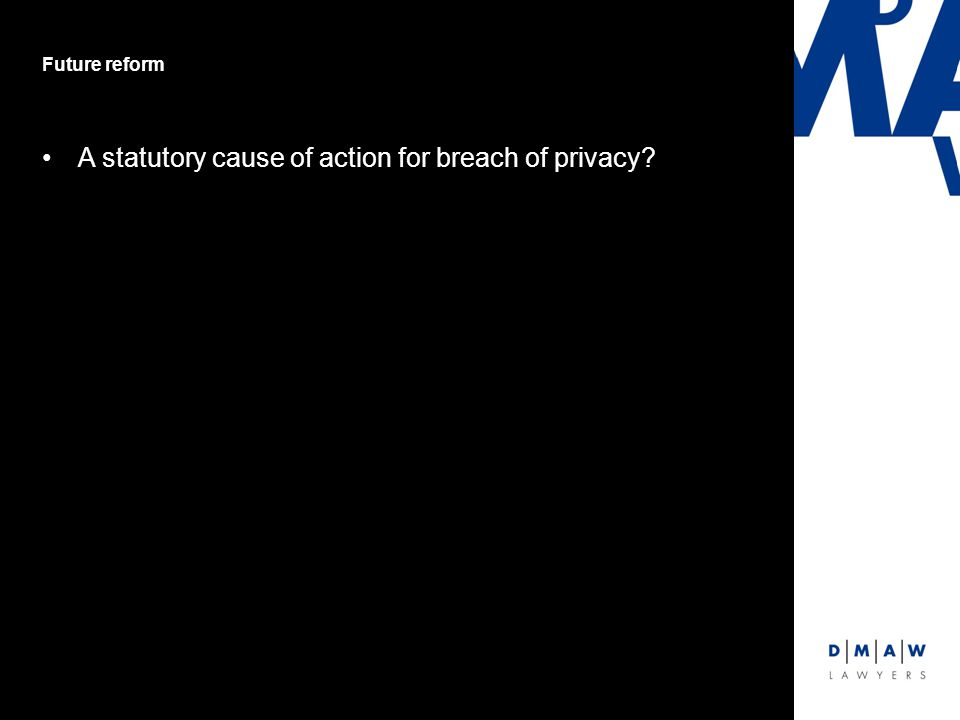A statutory cause of action for breach of privacy