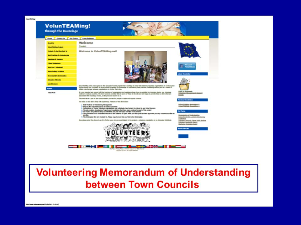 Volunteering Memorandum of Understanding between Town Councils