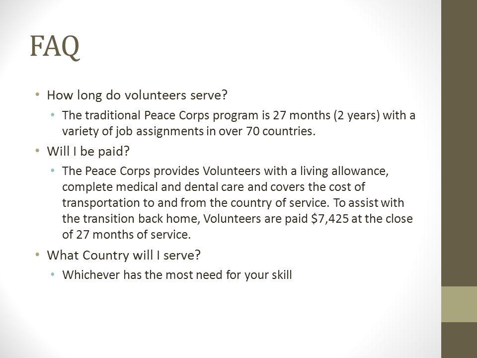 FAQ How long do volunteers serve.
