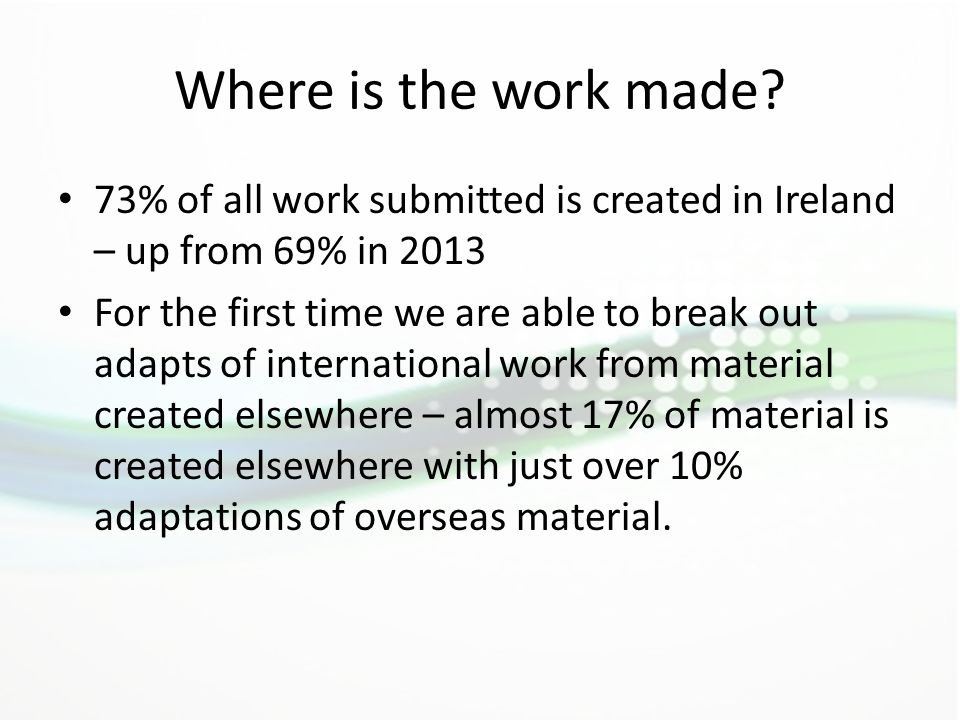 Where is the work made.