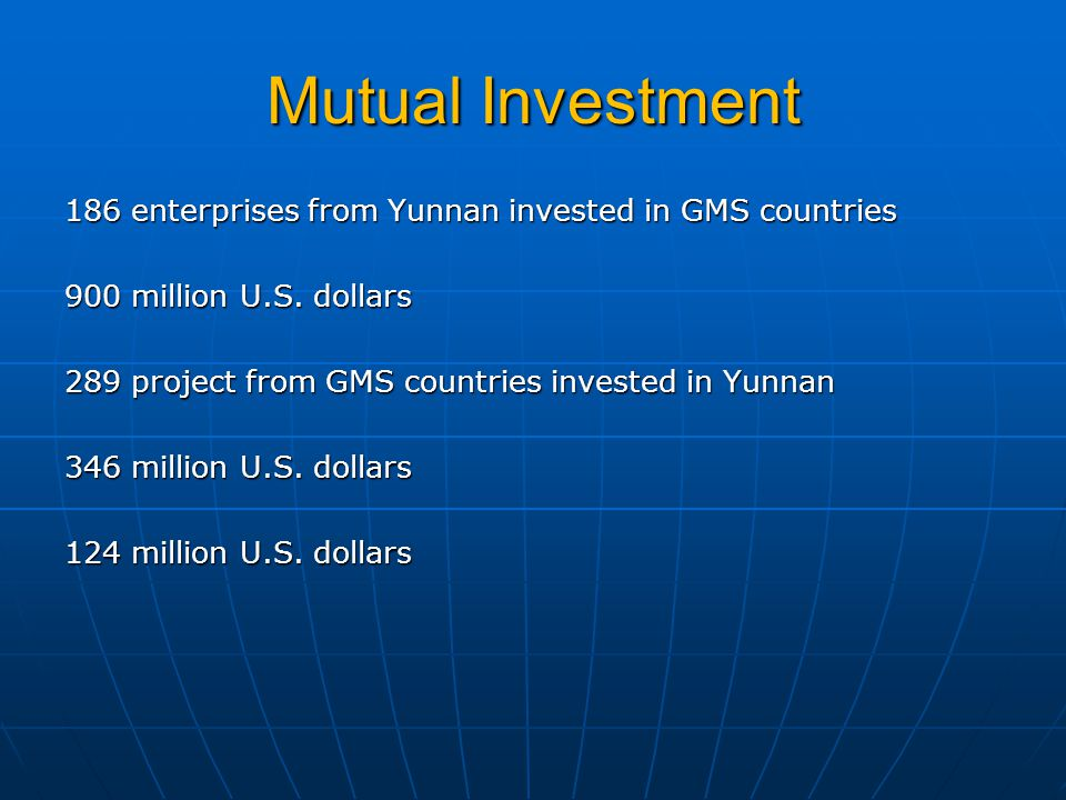 Mutual Investment 186 enterprises from Yunnan invested in GMS countries 900 million U.S.