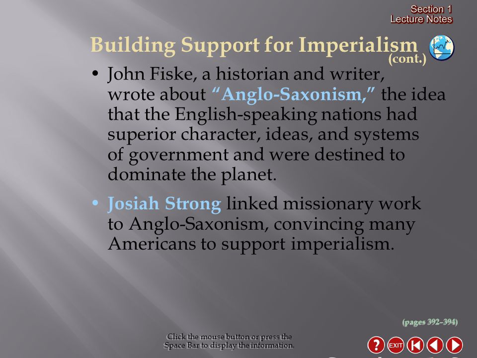 Why did Americans increasingly support imperialism during the 1880s.