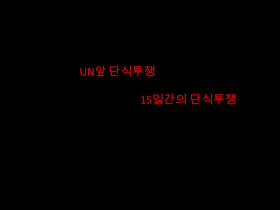1989 년 한반도의 평화와 통일을 위한 22 일간의 UN 앞 단식투쟁 1990 년 UN 분리가입저지와 한반도의 협화협정 체결을 위한 15 일간의 단식투쟁 22 Day Hunger Strike for Peace and Reunification of Korea in front of the UN in 1989 15 Day Hunger Strike Opposing the Proposed Separate Entrance of North and South Korea to the UN in 1990