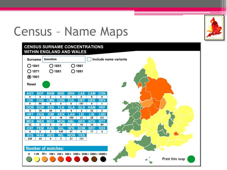 Census – Name Maps