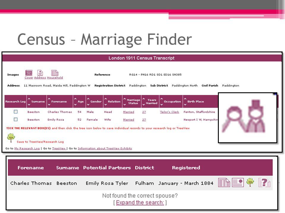 Census – Marriage Finder